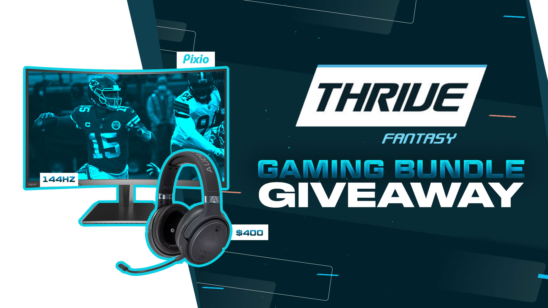 Pixio 144Hz Curved Gaming Monitor & Audeze Mobius Headset Giveaway